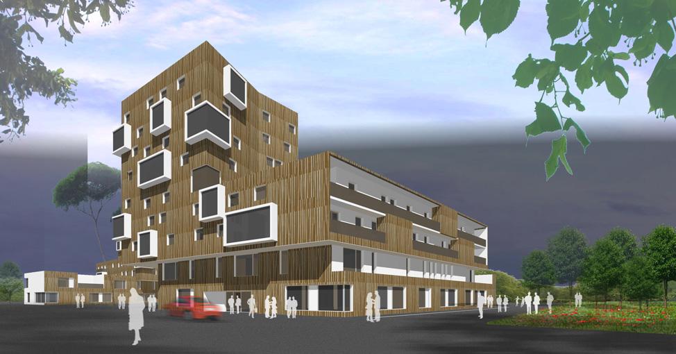 Projet de renouvellement urbain nantes 44 bohuon for B architecture nantes