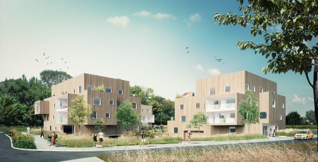 Concours Zac du Vallon des Garettes à Orvault.  Bâtiment Bas Carbone (label BBCA)