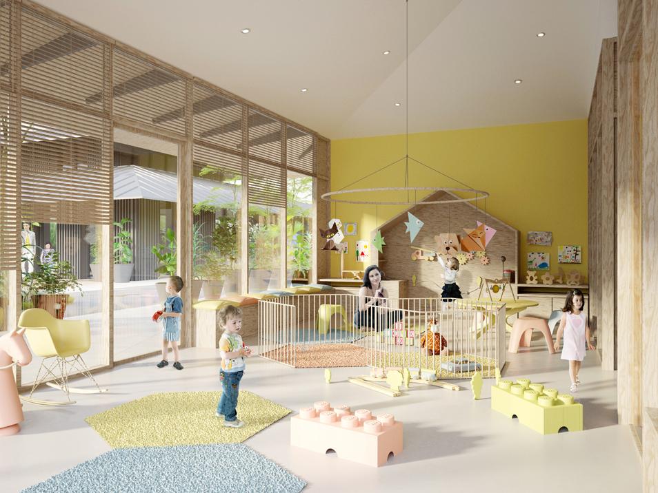 reconstruction du centre d partemental enfance et famille saint s bastien sur loire 44. Black Bedroom Furniture Sets. Home Design Ideas