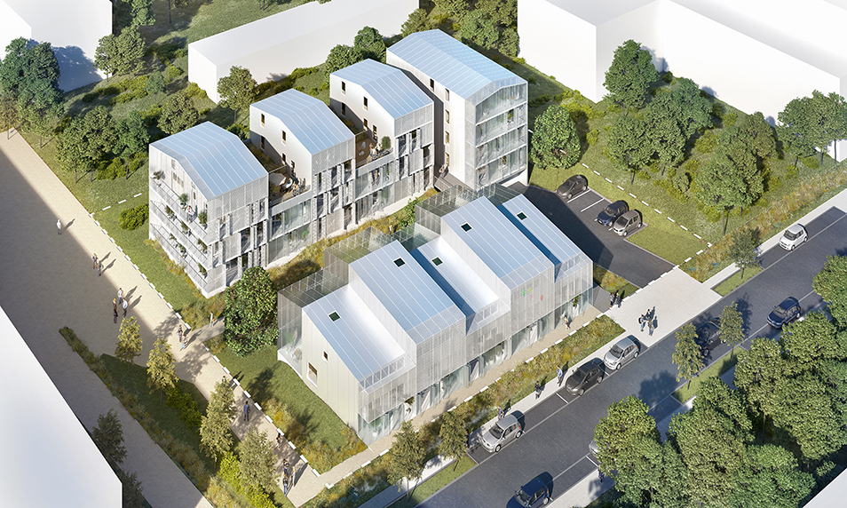 Construction de 23 logements intermédiaires et 5 logements individuels – ZAC Champ de Manoeuvre à Nantes