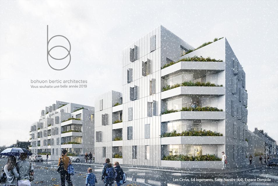 L'équipe de l'Agence Bohuon Bertic Architectes vous souhaite une belle année 2019