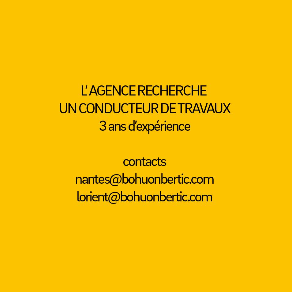EMPLOI CONDUCTEUR DE TRAVAUX – 3 ANS D'EXPERIENCE